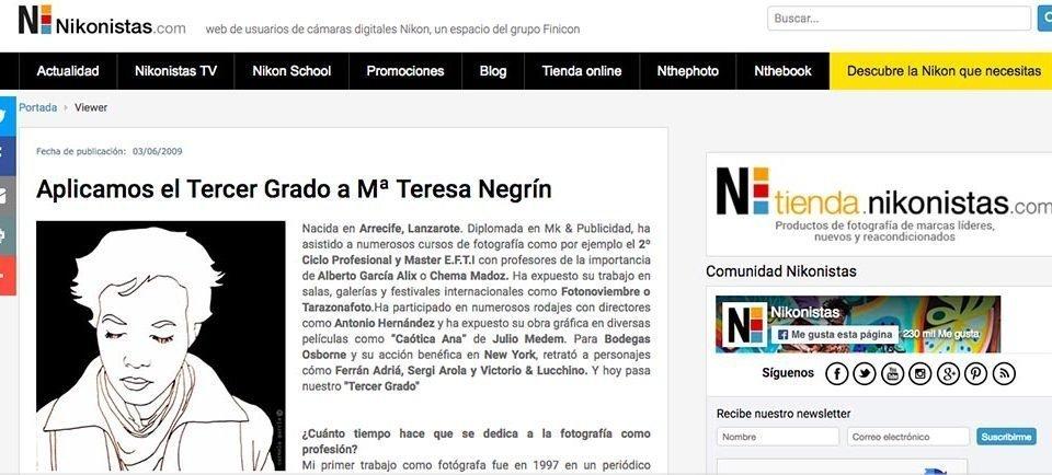 """Entrevista """"Tercer Grado"""" web Nikonista España"""