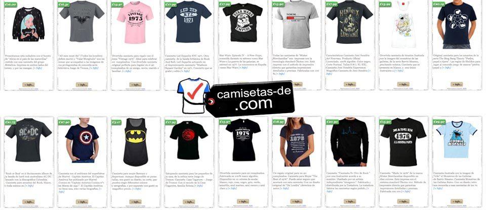 """Diseño y Desarrollo Web """"Camisetas-De"""""""