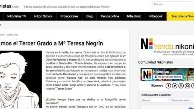 Entrevista «Tercer Grado» web Nikonista España