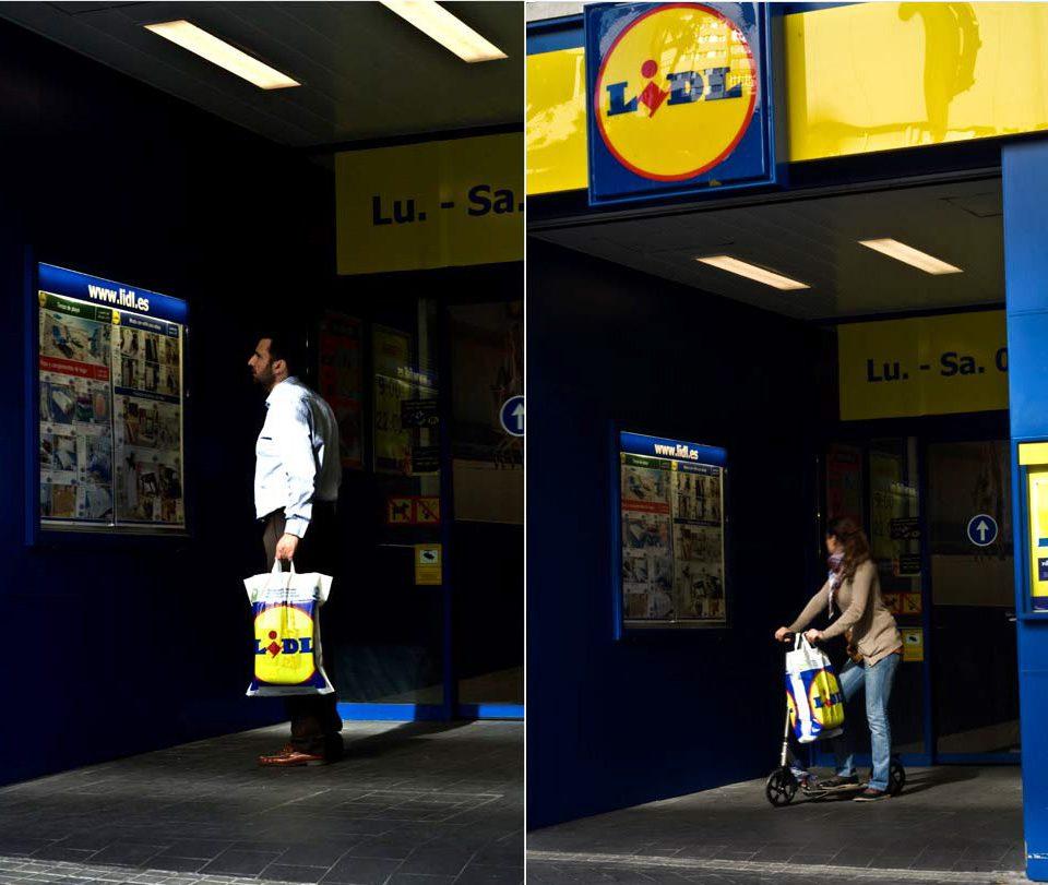 """Fotografías campaña """"tiendas urbanas Lidl Madrid"""""""