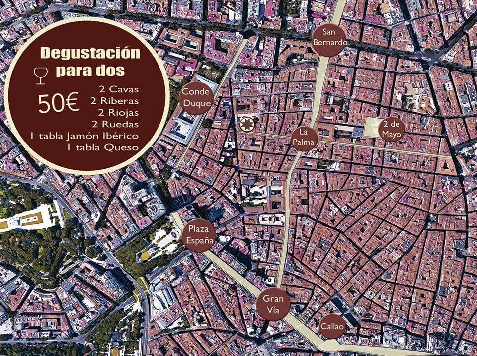 Diseño Flyer promocionales De Vinos Madrid