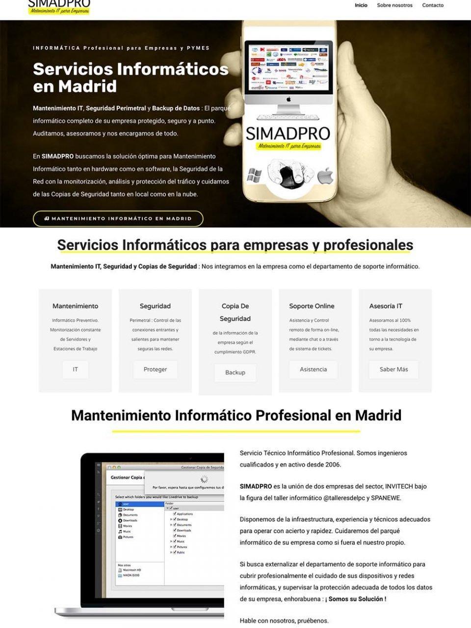 Diseño yDesarrollo Web «Simad PRO»