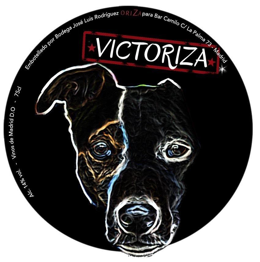Etiqueta Vino Victoriza y diseño de chapas promocionales